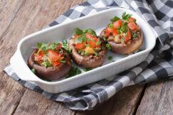 Grilled Portobello Mushrooms with Pico de Gallo