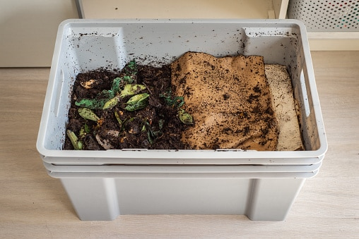 plastic container compost