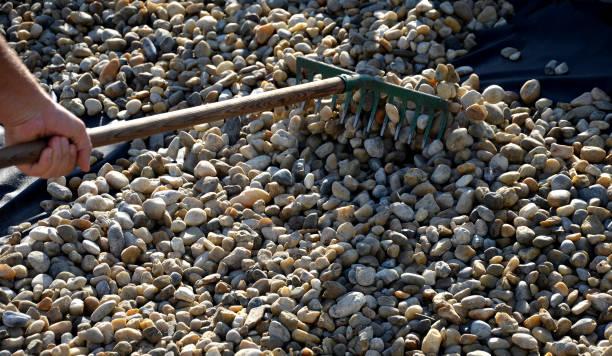 raking stones